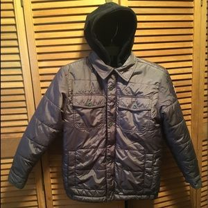 Old Navy Gray Hooded Jacket